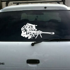 Sniper ghillie suit barrett 50 cal vinyl decal lg