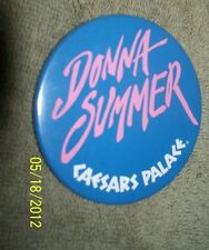 Donna Summer Singer Songwriter Caesars Palace Button Pinback For Show 1986-7