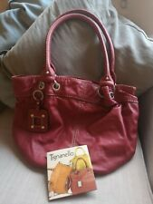 Red Leather Tignanello Handbag