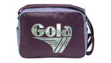 GOLA REDFORD MIRROR METALLIC MESSENGER BAG - CUB096 AUBERGINE / MINT / VIOLET