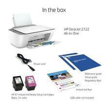 Retail $80 Hp DeskJet 2722 All-in-One Wireless Color Inkjet Printer Ships Fast