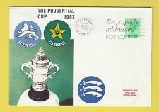 CRICKET - STAMP COVER - PRUDENTIAL CUP -  ENGLAND  V  PAKISTAN  -  1983
