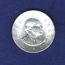 IRELAND  REPUBLIC  1966  10 SHILLINGS SILVER COIN, BRILLIANT UNCIRCULATED