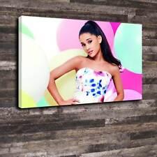 """Ariana Grande Scatola stampata su tela A1.30""""x20"""" - profonda 30mm TELAIO POSTER SINGER V1"""