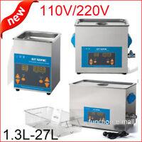 110/220V Digital Stainless Steel Ultrasonic Ultra Cleaner Bath Tank Timer Heater