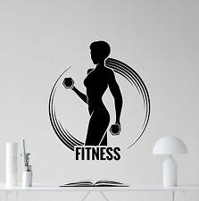 Fitness Wall Decal Sport Girl Woman Gym Poster Vinyl Sticker Club Decor 157hor