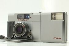 【Exc+++】 Contax T Silver 35mm Rangefinder Film Camera w/ T14 Flash From JAPAN