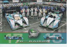 Pescarolo Sport Racing Promo Card 2009 Le Mans.