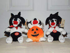 BIG DOG BEANIE PUMPKIN &  2 HALLOWEEN VAMPIRE DOGS