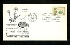 Postal History Canada Fdc #429 Rose Craft Provinces Northwest Territories 1966