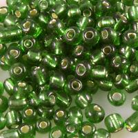 716 280 Rocailles Perlen Glasperlen 4mm AB beige Glas Beads Indianerperlen