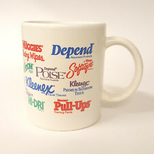 Kleenex Huggies Depends Kimberly Clark Advertising Logo Coffee Mug B79