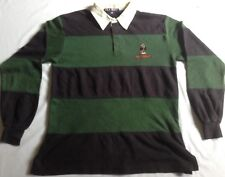 VTG 90s POLO SPORT BEAR RALPH LAUREN Tee Shirt Long Sleeve Stadium Rugby Striped