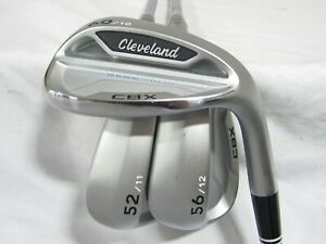 Used RH Cleveland CBX Satin Chrome 52* 56* 60* Wedge Set - Wedge Flex Steel