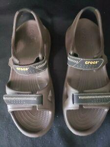 Crocs Swiftwater Brown River Sandal Adjustable Croslite Hook/Loop  Men 13 . M