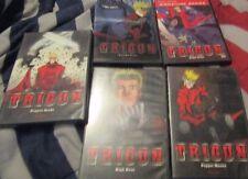 LOT OF 5 DVD'S OF TRIGUN - HIGH NOON, ANGEL ARMS, GUN-HO-GUNS, PUPPET MASTER,PRO