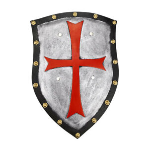 "Knights Templar Crusader Medieval 20"" Shield Red Cross Armor Cosplay Props"