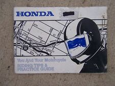 1988 Honda Motorcycle Riding Tips & Practice Guide Manual Safety SIPDE Cycle   S