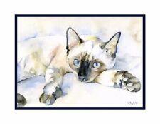 Watercolor Siamese Cat Cards