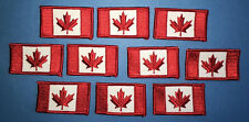 10 Lot Rare Vintage 1980's Iron On Canadian Canada Flag Biker Vest Hat Patches