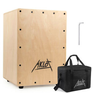 Cajon Box Drum Wooden Percussion Box with Internal Adjustable Snares AKLOT