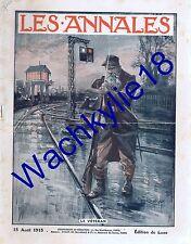 Les annales n°1677 du 15/08/1915 Soissons Pas de l'oie Dardanelles