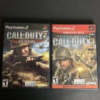 PS2 Call Of Duty Lot Of 2: COD 2 Big Red One & COD 3 Special Edition