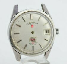 I712 Vintage Ricoh Auto Deluxe Automatic Watch Swiss Made Needs Repair 1801 63.1