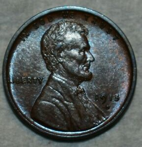 AU-UNC 1915-D Lincoln Cent, Razor-sharp, lustrous specimen.