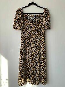 Brave Soul Midi Button Down Dress Floral Size S