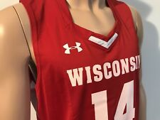 NEW Wisconsin Badgers Under Armour Authentic Basketball Jersey Men's Large NCAA