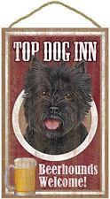 "Top Dog Inn Beerhounds Cairn Terrier black Bar Sign Plaque dog 10"" x 16"" Beer"