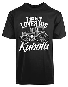 This Guy Loves His Kubota New Mens Shirt Automobile Tractor Construction Top Tee