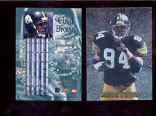 1997 CE Collectors Edge Masters CHAD BROWN Pittsburgh Steelers Card