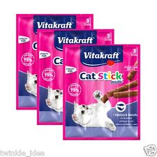 9pcs Vitakraft Cat Stick Mini Cod & Pollock 18g - Made in Germany