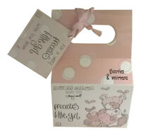 Precious Little Girl Booties & Mittens Set With Matching Bag - Baby Shower Gift