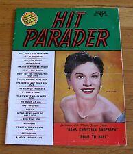 Hit Parader 1953 Song Magazine Joni James Road To Bali Hans Christian Andersen