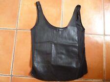 THE KOOPLES en cuir noir gilet, XS, 6