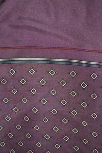 Vintage purple Pierre Cardin silk scarf / cravat with paisley pattern