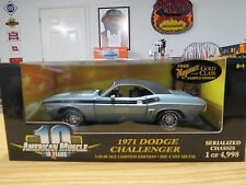 Ertl American Muscle 1971 Challenger R/T Gunmetal Gray 340 4Bbl ,1:18 , # 36512