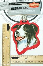 BORDER COLLIE PET CO DOG BREED ID TAG FOR LUGGAGE CARRIER GYM BAG ETC NEW