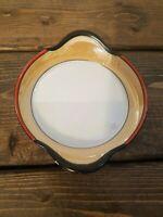 Vintage Noritake Bowl Plate Orange Glaze Lusterware Black Handles 5 inch