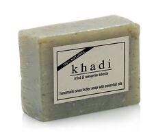 Khadi Natural Mint & Sesame Seeds Shea Butter Soap Herbal Product 100gm