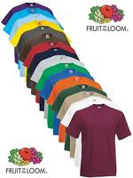 Fruit of the Loom Plain Blank Mens Mans Cotton Tee Shirt Tshirt T-Shirt NEW