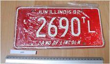 Illinois USA 1992 Tag Licence/plaque d'immatriculation inutilisés 2690 TC (taxi limonsene)