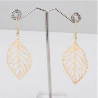 1 pair Women Hollow Metal Leaves Earrings Alloy Studs Best Gift For Her Fashion