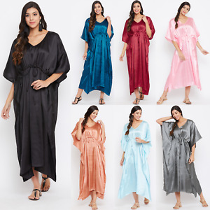 US Women Satin Silk Robe Dress Sleepwear Lingerie Long Nightdress Nightgown Maxi