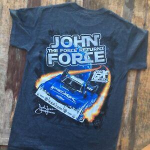John Force The Force Returns T Shirt Mens Size S NHRA Racing Funny Car Champion