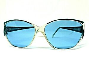 POLAROID Sunglasses Ages 80 Women's Vintage Deleted Lenses Blue Retro