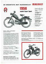 MAGNEET Super Sport en S 50 de luxe Originele Folder 1956